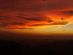 Sunset over Nicoya Gulf from SanRamon