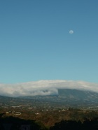 Day moon over Grecia and Naranjo - Costa Rica, from lovely lot for sale www.costaricapm.com