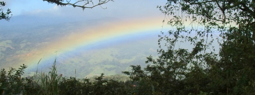 rainbow from the porch