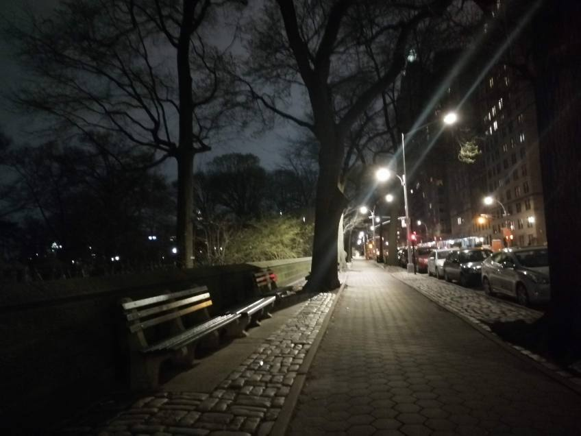 deserted NYC Pink Moon - covid 19